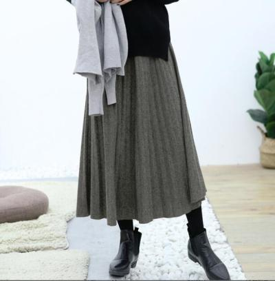 Maternity Skirts Pregnancy clothes Casual  Womens Modal Long Skirt Fold Loose Fit Pleated Belly Supports Skirt Soft Fabric