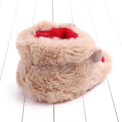 BabyShoes Newborn Baby Girls Boys Cartoon Fluffy Deer Warm Boot First Walkers Christmas Shoes Soft Sole Sneakers First Walker