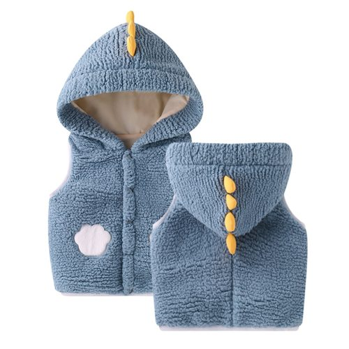 5 Colors Puffer Vest Kids Toddler Kids Baby Girls Boys Solid Outdoor Waistcoat Vset Hooded Windproof Coat