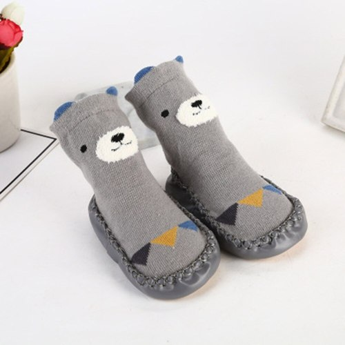 Kids Toddler Baby Girls Boys Cartoon Animal Thick Warm Anti-Slip Socks Slippers Casual Non Slip Indoor Socks