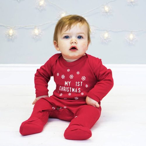 My First Christmas Newborn Infant Baby Boys Girls Christmas Letter Print Romper Jumpsuit Outfits Baby Clothes