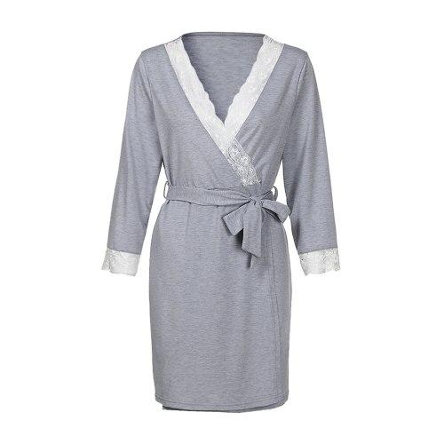 Breastfeeding  Lace  Nursing Baby For Maternity Pajamas Night-rob Dress Pregnant