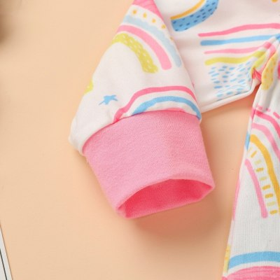 Baby Romper Long Sleeve Fashion Newborn Infant Baby Boys Girls Rainbow Tie Dyed Romper Jumpsuit Outfits Baby Winter Romper