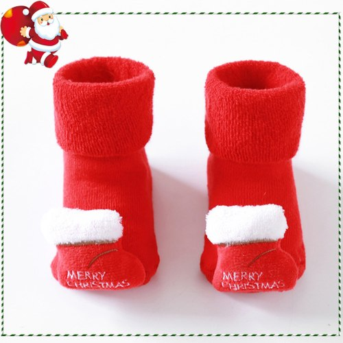Christmas Baby Socks Newborn Baby Girls Boys 3d Cartoon Animal Anti-slip Socks Slippers 0m-3t Chaussette Antiderapante Bebe