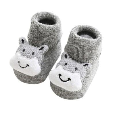 Newborn Baby Socks Toddler Baby Girls Boys 3d Cute Cartoon Animal Anti-slip Socks