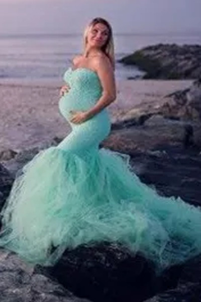 Pregnancy Dress Photography Props Dresses For Photo Shoot Maxi Gown Dresses