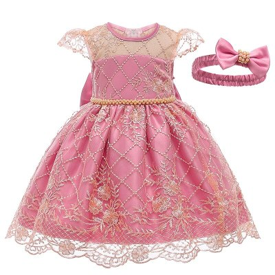 Baby Girls Clothes 2020 Spring Autumn New Girls Birthday Party Evening Dresses Baby Girls Clothing Lace Princess Dress