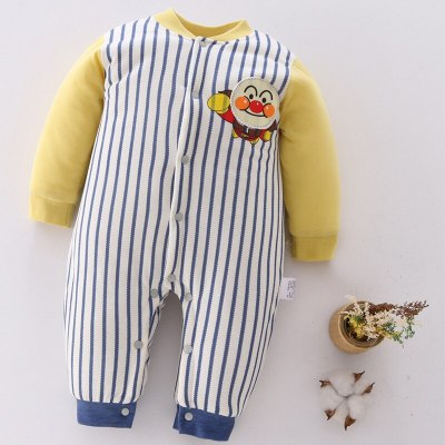 Infant Baby Romper 2020 Autumn Winter New Cotton Yellow Baby Girls Clothes Cartoons Baby Boys Romper Long Sleeve Kids Romper