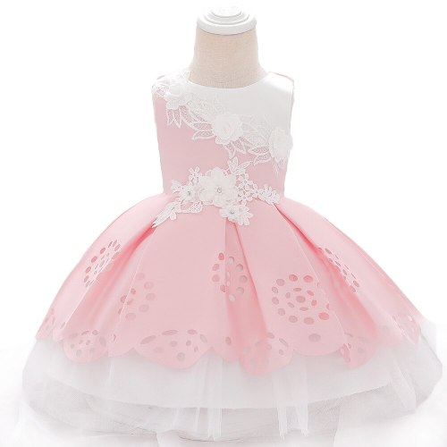 Baby Girls Clothes Infant Newborn Baptism Princess Dress  Kids Baby Party Wedding Dress