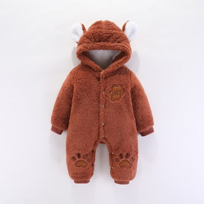Baby  outfit Autumn Winter Infant Thick Fluff Rompers