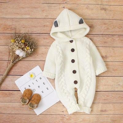 Cute Spring Autumn Newborn Baby  BoyClothes Rabbit Baby  Romper Hot Sale  Little Ears Girl Clothing
