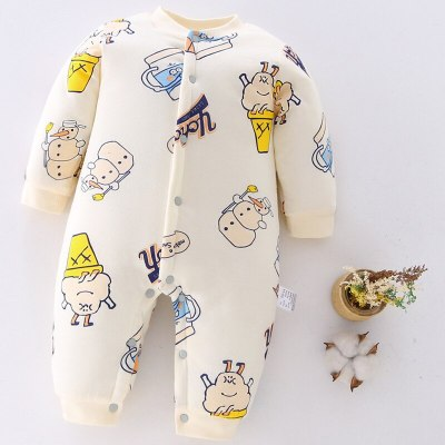 Newborn Baby Clothing 2020 Autumn Winter New Cotton Cute Kids Clothes Cartoon Baby Romper