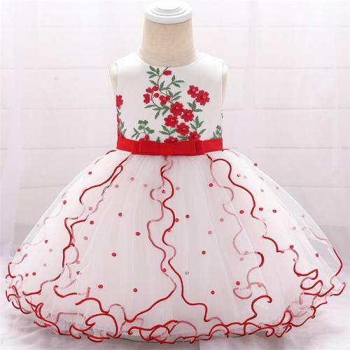 Summer Elegant Baby Girl Princess Birthday Dress Baby Party And Wedding Dress