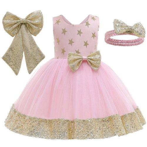 Summer Baby Girls Dress Kids Dresses for Girls Bow Birthday Princess Dress Girls Party Dress