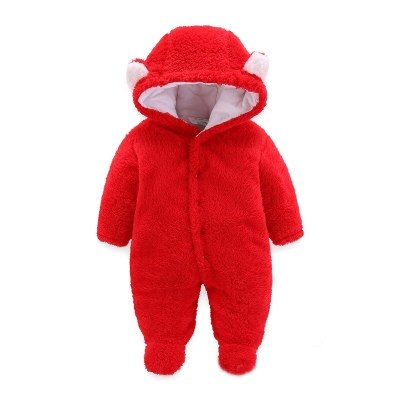Winter Newborn Baby Rompers Hooded Thick Warm Baby  Jumpsuit