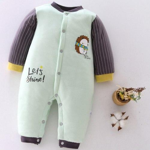 Newborn Baby Clothing 2020 Autumn Winter New Cotton Cute Kids Clothes Cartoon Baby Romper