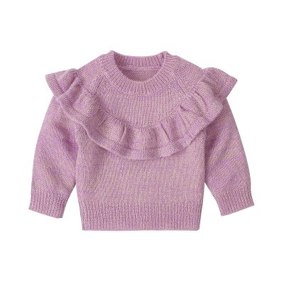 Children Clothing 2020 Autumn Winter New Baby Girls Sweater Long-sleeved Knitting Ruffle Coat Little Girls Casual Jacket