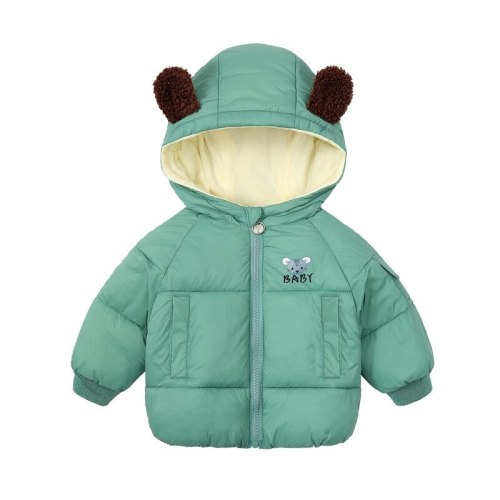 Winter Baby Cartoon Mouse Plus Velvet Children Jacket  Parka Toddler Outwear