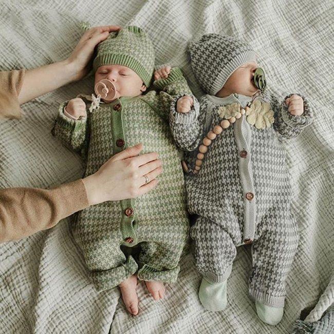 2020 Autumn New Baby Girls Jumpsuit  Boys Buckle Cotton Jumpsuit Warm Hat Suit Newborn Romper Children Clothing