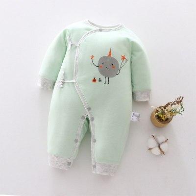 New Baby Girls Romper Green Newborn Cartoon Baby Romper