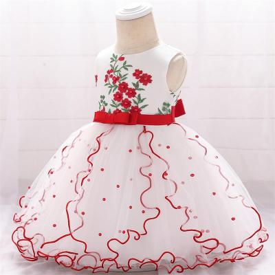 Summer Elegant Baby Girl Princess Birthday Dress Baby Party And Wedding Dress