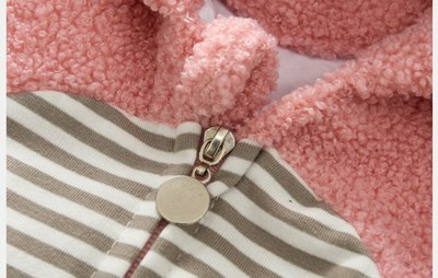 Newborn Baby Boy Girl Romper Fleece Cartoon Winter Warm Jumpsuit Hooded Coat Outwear