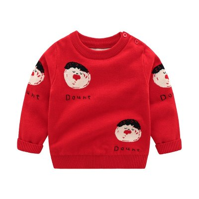 2020 Autumn Baby Sweater Cartoon Christmas Cotton Knitted Children Sweater