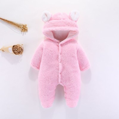 2020 Autumn Baby New Romper Infant Foot-wrapped Romper Newborn Winter Hooded Long-sleeved Romper Kids Clothing