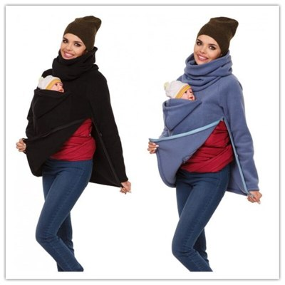 Functional Mother Kangaroo Sweater Autumn Winter Maternity Women 's Clothing Thickened Pregnancy Wearing Coat