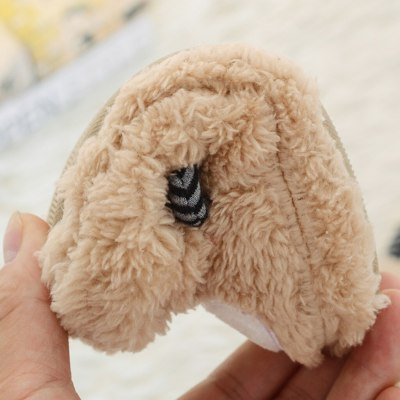 Cartoon Baby Slippers Toddler Infant Warm Shoes Boys Girls Soft-Soled Slippers Kids Fur Slides Slippers