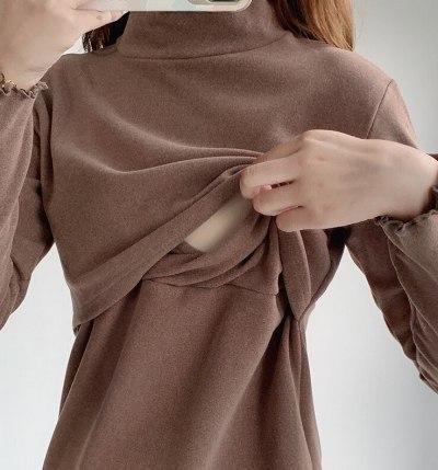 Casual Womens Pregnant Maternity Clothes Nursing Tops Breastfeeding T-Shirt Pregnancy Maternity Breastfeeding Tops