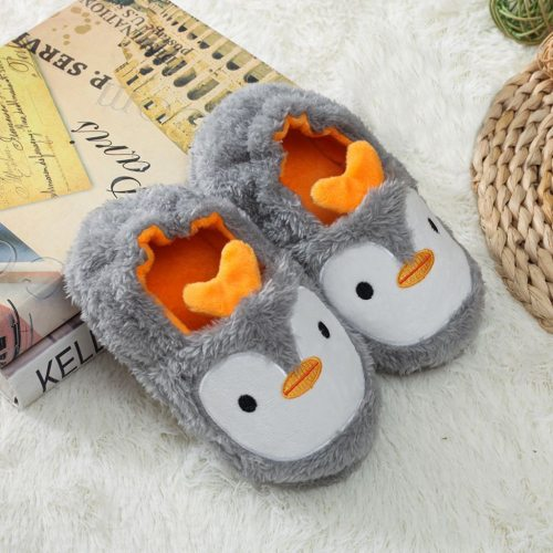 Cartoon Kids Slippers Toddler Infant Baby Warm Shoes Boys Girls Soft-soled Slippers