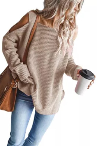 New O-neck Knitted Women Pullover Sweater Winter Puff Sleeve Female Sweater