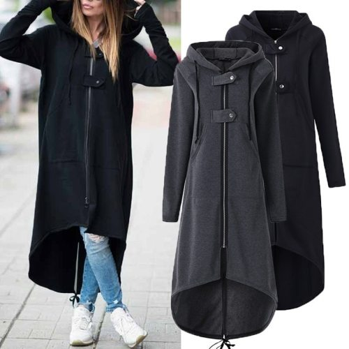 Hooded Maternity Coat Autumn Zipper Plus Size 5XL Velvet Long Coat Women Overcoat Pregnancy Clothes Winter Coat