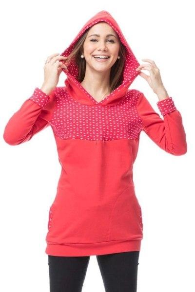 Winter Nursing Hoodie Lactation Dress Pregnant Woman Increase Down Long Sleeve Suit-dress Maternity