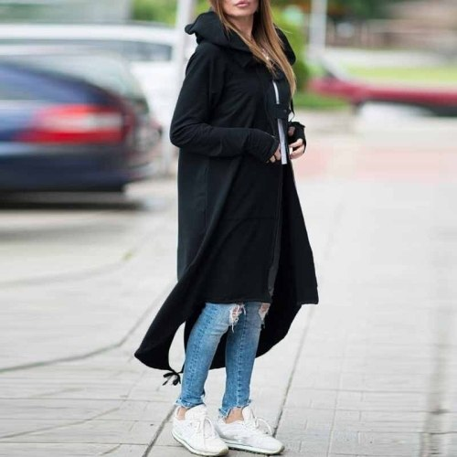 Hooded Maternity Coat Autumn Zipper Plus Size 5XL Velvet Long Coat Women Overcoat Pregnancy Clothes Winter Coat
