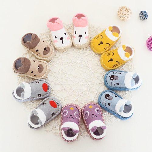 Cartoon Newborn Shoes Baby Schoenen Toddler Girls Boys Anti-Slip Socks Slipper Shoes