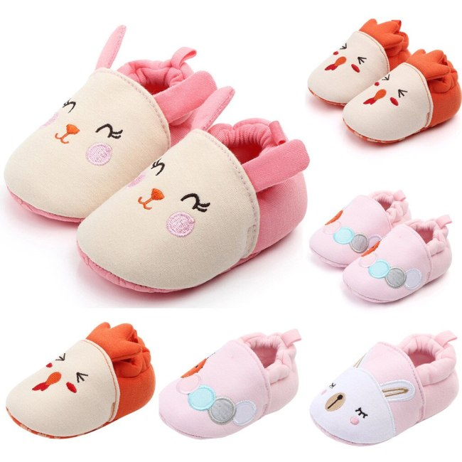 Cartoon Rabbit Newborn Shoes Baby Girl Boys Shoes Comfortable Mixed Colors First Walkers Kid Shoes