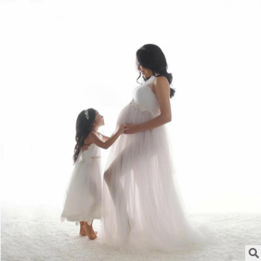 2021 New Style Sleeveless long elegant Maxi Dress for Maternity Photography