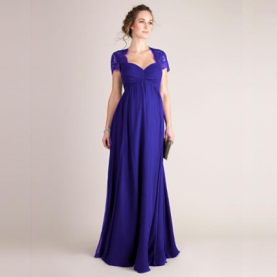 2021 New Maxi Short Sleeve Solid Color Maxi Maternity Dresses
