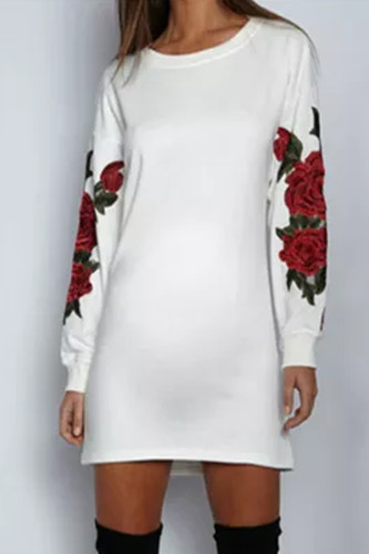 Maternity Embroidered Long Sleeve Dress