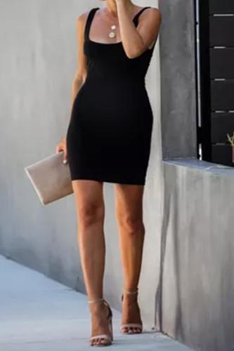 Maternity Solid Color Sling Dress