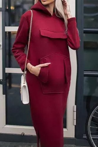 Maternity New Solid Color Long Dress