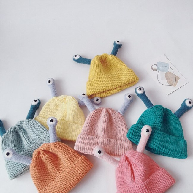 2021 Spring New Kids Hat Candy Color Girls Hats Insect Boys Knit Hats