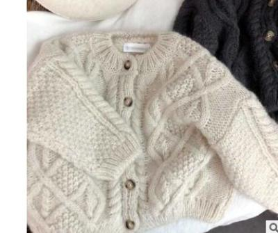 2020 New Kids Clothes Single Breast Girls Sweater Brief Style Boys Knitted Sweater
