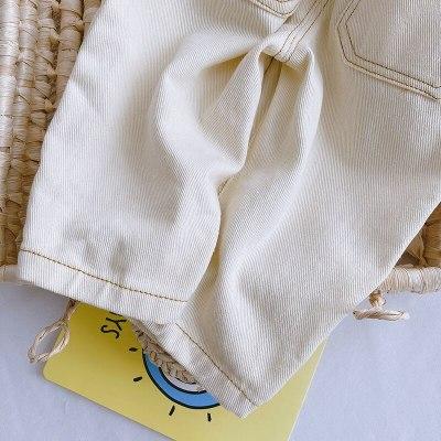 2021 Spring  Kids Pants Bud Wasit Girls Trousers Fashion Boys Denim Pants Girl Jeans