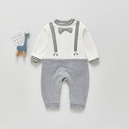 2021 Spring Baby Clothes 1st Birthday Boys Rompers Baby Romper And Solid Color Gentleman Suit
