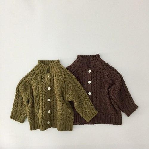2021 Spring New Boys  Sweaters Single Breast Boys Cardigans Korean Kids Knitwear
