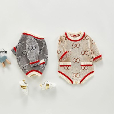 Fashion Baby Clothing Cute Long Sleeve Baby Boys Bodysuit with Pockets New Year Gift Baby Girl Jumpsuits
