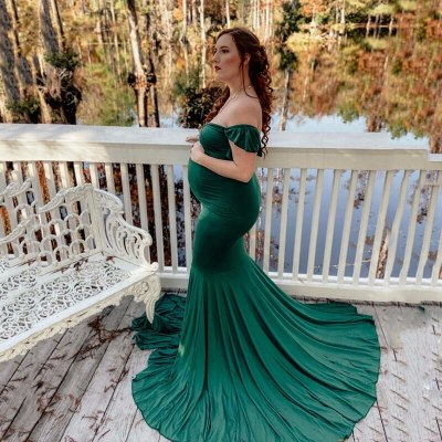 Maternity Dresses For Photo Shoot Sexy Mermaid Gown Pregnancy Dress